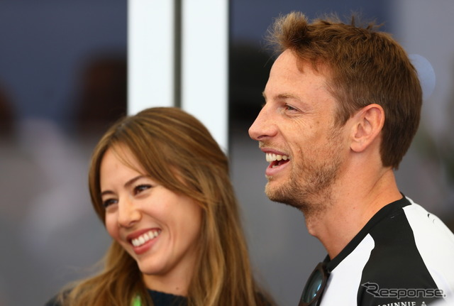 Jenson button, Jessica and his wife
