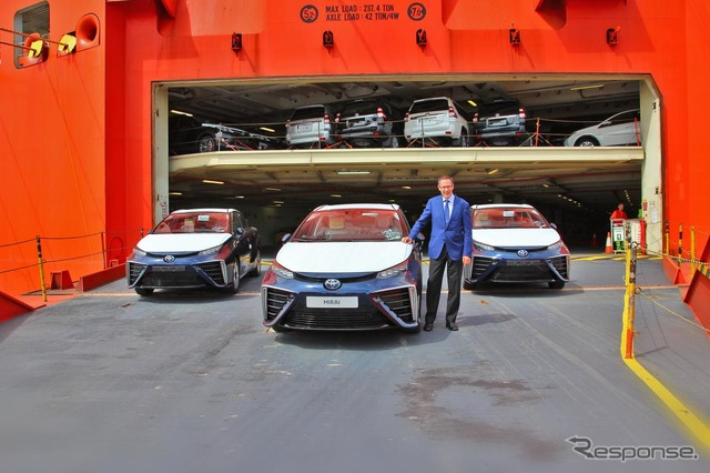 First Toyota Mirai that landed in Europe