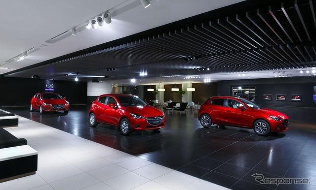 Mazda headquarters lobby