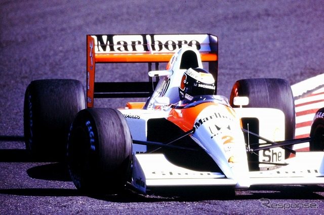 In 1991, McLaren Honda MP4/6 F1 Japan Grand Prix run Gerhard Berger
