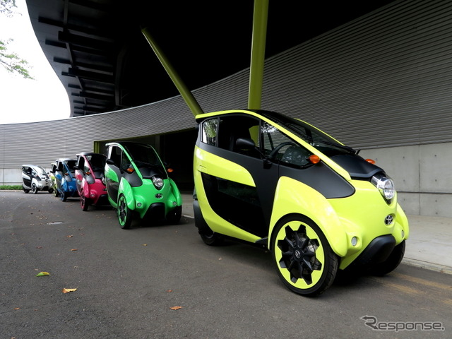 """Think human mode"" in the Toyota i-ROAD exhibition"