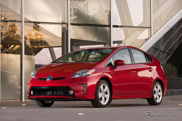 The current Toyota Prius (North American model)