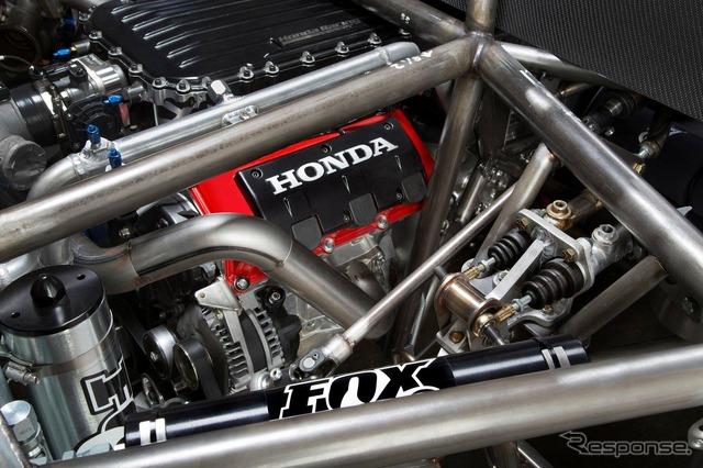 3.5-liter V6 twin-turbo engine on Honda's all-new racing car