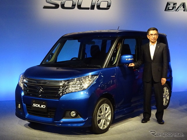President of Suzuki, t. Suzuki (new Solio presentation)