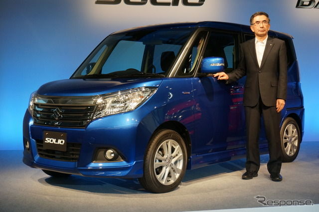 New Suzuki Solio and President Toshihiro Suzuki
