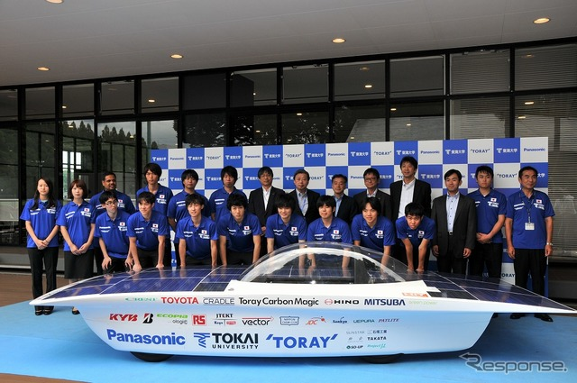 Tokai University solar car team for new vehicles