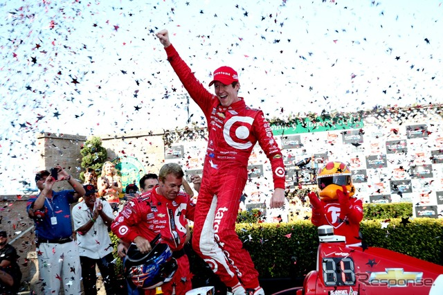 Scott Dixon decided the title in reverse