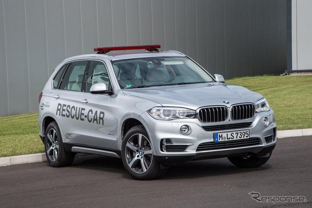 The PHV's new BMW X5 formula E rescue vehicles