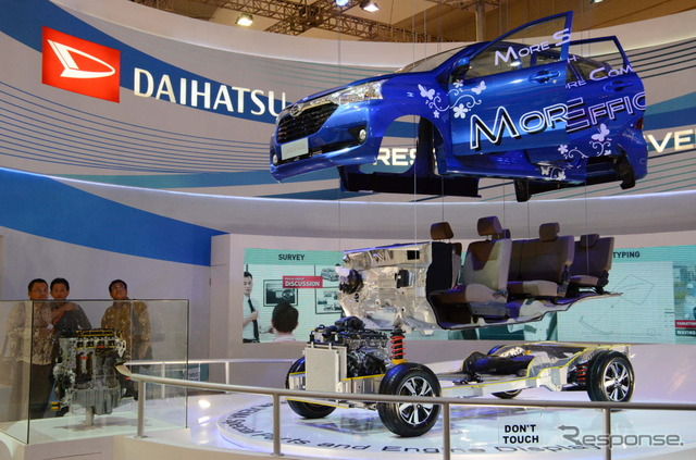 Display of the new Daihatsu Xenia