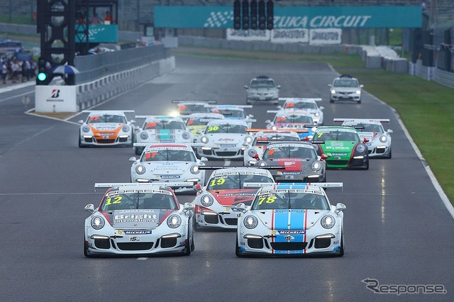 Round 9 of the Porsche Carrera Cup Japan