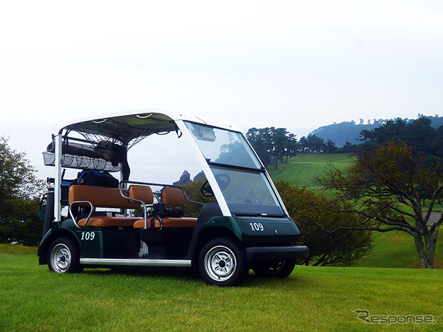 The Yamaha Golf Car being used at Kawana Hotel Golf Course