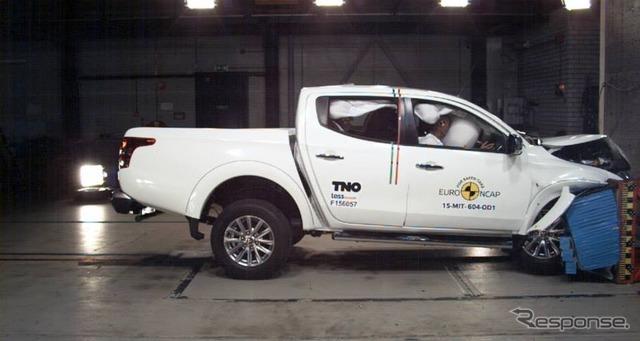ใหม่มิตซูบิชิ l200 ของการทดสอบการชน Euro NCAP