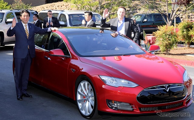 The ride on the Tesla model S P85D Abe (April)