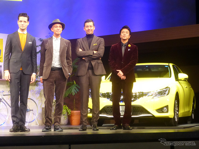 """Adults 'mensnonno' collaboration with the Toyota mark X publication presentation (toyosu, Tokyo, 9/29)"