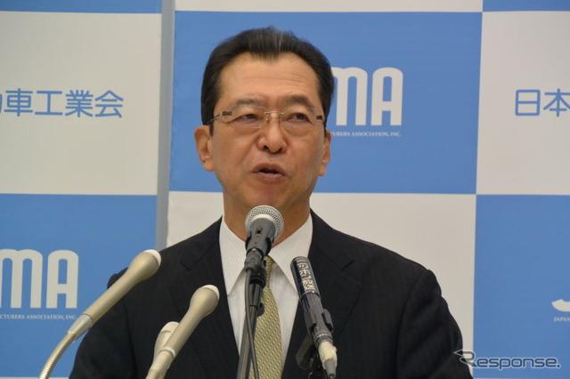 Japan Automobile Manufacturers Association Chairman Fumihiko Ike