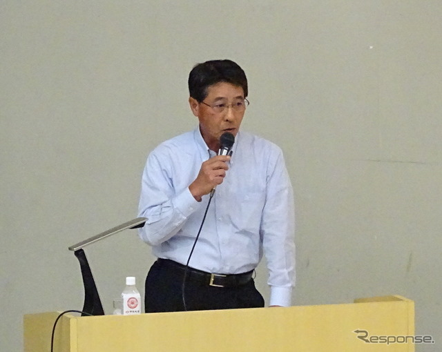 Mazda President Masamichi Kogai conducted a lecture at Chuo University Korakuen Campus