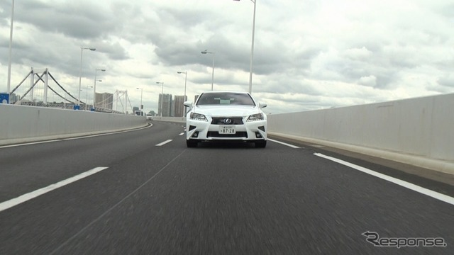 Demonstration run of the automated driving test vehicle Highway Teammate