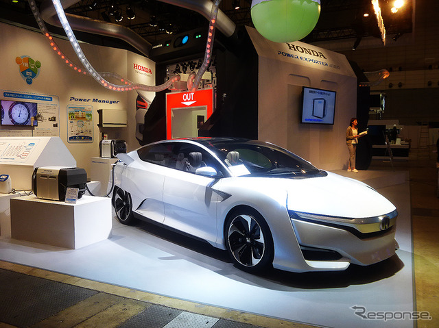 Honda to have a world premiere for the new external power feeding device Power Exporter 9000 & the new FCV concept car Honda FCV Concept (2015 CEATEC Japan / Makuhari Messe / October 7-10, 2015)