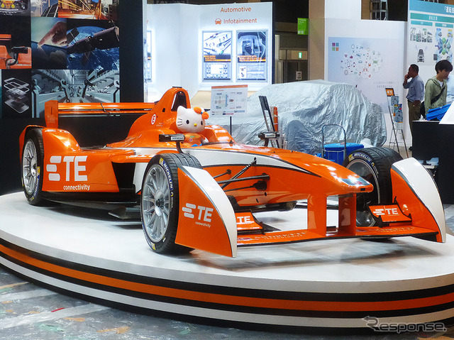 Alps has Andretti formula E test car, and introduce employed accountant TE Connectivity connector (CEATEC JAPAN by 2015 and curtain Makuhari Messe / 10 / 7-10