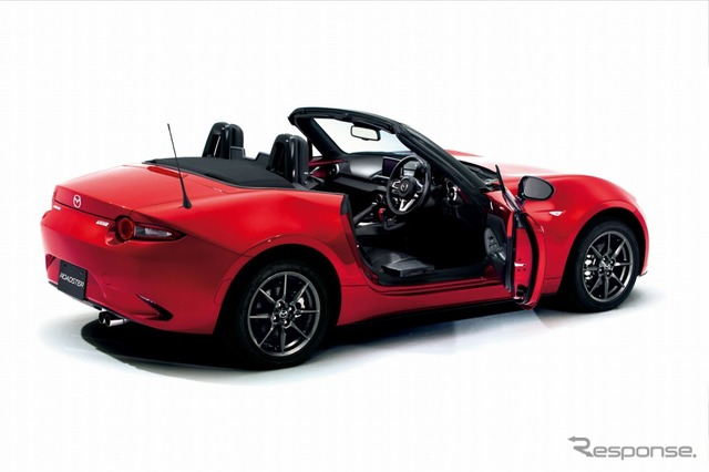 Mazda's manually operated all-new Roadster