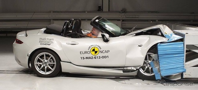 New Miata Euro NCAP crash test