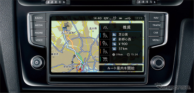 VW Golf 40th Anniversary Edition factory Infotainment system Discover Pro