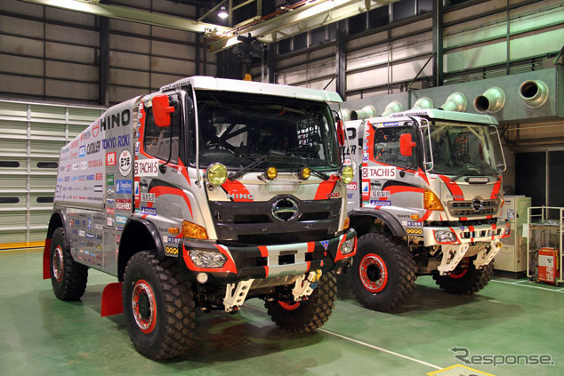 (Left: 1 car, right car 2) Dakar participated in 2016 Hino Ranger