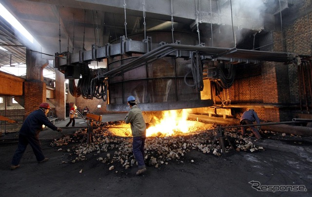 China's iron and steel plant