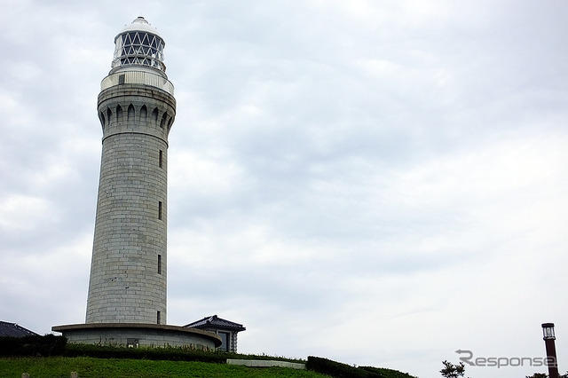 10/24 is open nightly tsunoshima Lighthouse (Yamaguchi, Shimonoseki, hohoku-Cho) Down the spiral staircase, climb to the light tower section of