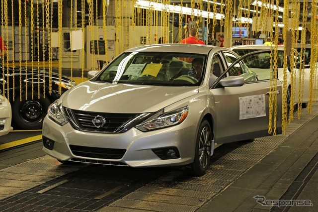 Nissan Altima 2016 model production start in United States, Tennessee, Smyrna Plant