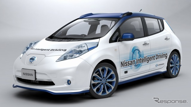 Nissan automatic driving road test experimental vehicle