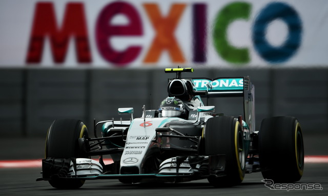 Mexico GP, the first day of free practice top's Nico Rosberg