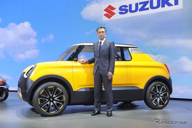 President of Suzuki, Toshihiro Suzuki (photo Tokyo Motor Show 15)