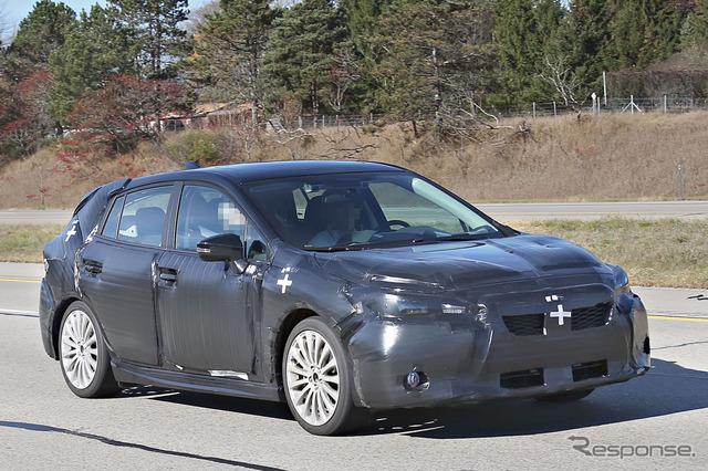 Scoop photo of the Subaru Impreza production model