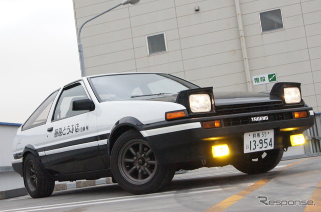 "Faithfully reproduces the original ""initial d"" Fujiwara tofu shop spec ae86 (reference image)"