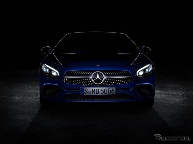 Images of the new Mercedes-Benz SL class improvement notice