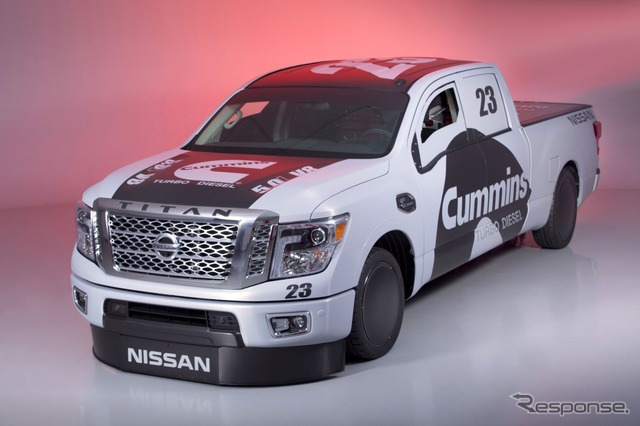 Nissan Titan XD, the land speed record racer