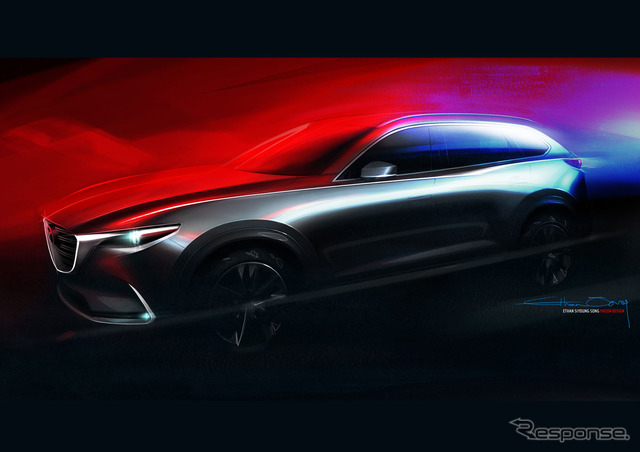 Notice sketches of the new Mazda CX-9