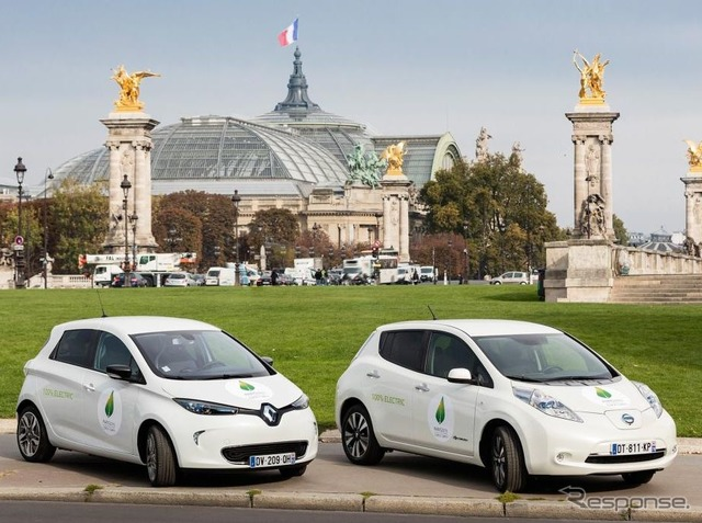 Zoé Renault and Nissan leaf