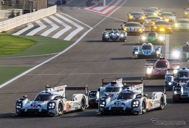WEC final round by 2015, of Bahrain, also starting from the front row Porsche two