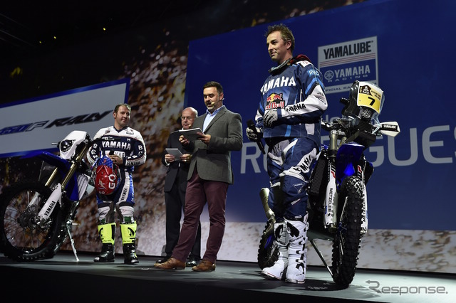 Yamaha launches Dakar Rally racing rider in Italy Milan