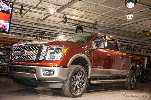 Production has been started in the United States State of Mississippi Canton factory Nissan Titan XD