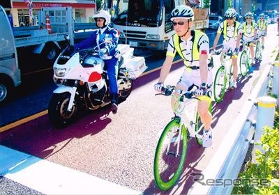 """Activities of the police bike squad """"BEEMS' (beams)"""