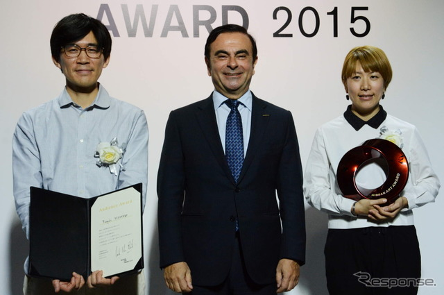 Yuko Mori (right) won the Grand Prix Left is Kumon, Takeshi, won the audience award.