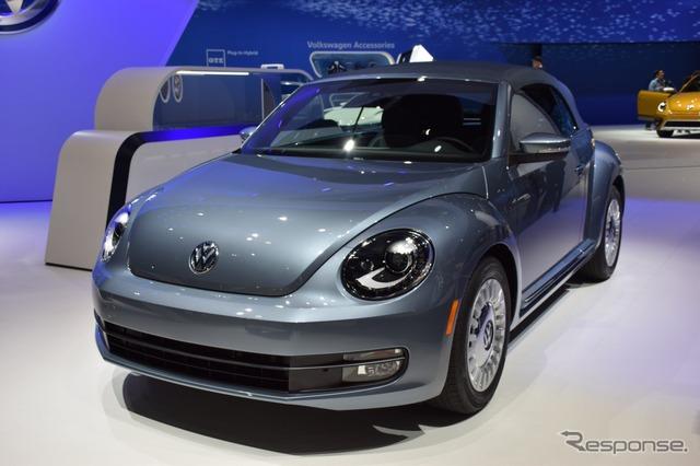 Volkswagen del escarabajo cabriolet del dril de algodón (Los Angeles motor show 15)