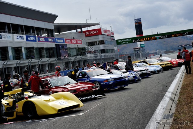 Driving event by former machines of the Nissan NISMO Nissan Motorsports Heritage Run (NISMO Festival 2015)
