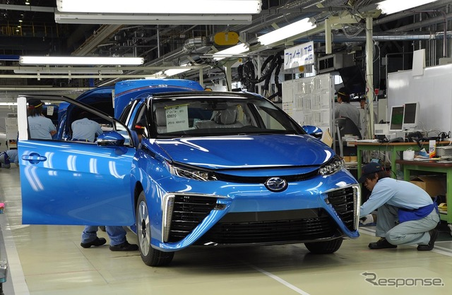 Production line of Toyota MIRAI