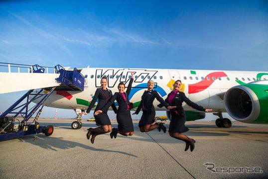 ウィズエアーのブダペスト2024五輪・パラリンピック招致特別塗装機