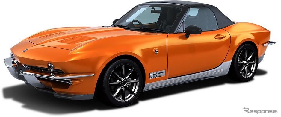 【画像】光岡が本気だしたオープンカー「ロックスター」!!アメ車風デザインがカッコ良すぎwwwwwwwwww