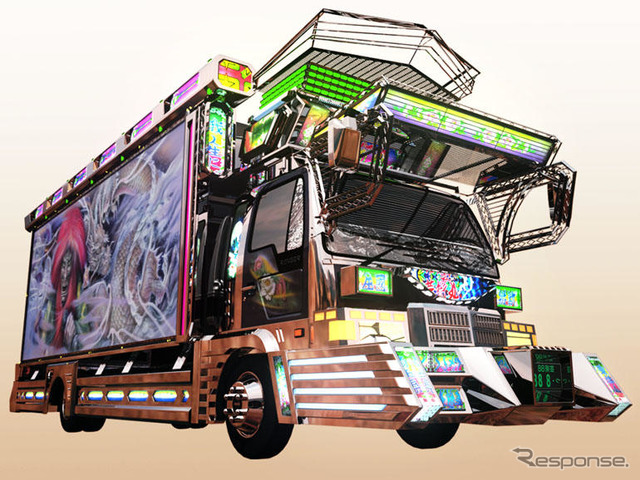 【東京ゲームショウ07】Wii『全国デコトラ祭り』に関口親分の芸術丸など 3枚目の写真・画像